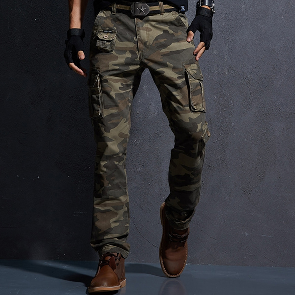 good service superior quality baby Camouflage Military Pants Men Men's Cargo Army Trousers Mens Tactical  Militari Baggy Camo Pants Denim Pants