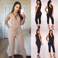 fashionwomenjumpsuit, Fashion, Summer, slim