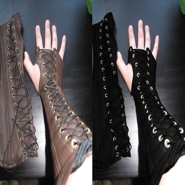 Apparel Accessories Gothic Arm Bracers Bracers Lace Up Bracelet Fashion Cosplay Costume Accessories