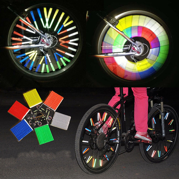 12 x BIKE BICYCLE CYCLING SPOKE WHEEL REFLECTOR REFLECTIVE Safety