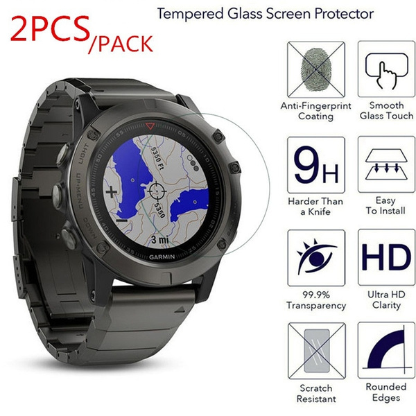 2x Clear Lcd Screen Protector Guard Cover Film Skin For Garmin Fenix