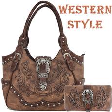 brown, women purse, westernstylehandbag, Cowgirl