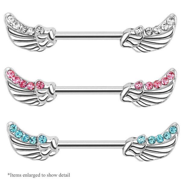 37596afe23c728 2pc Sythetic Opal Mandala Sunflower Surgical Steel Nipple Piercing Barbell  Bar Body Jewelry Nipple Ring | Geek