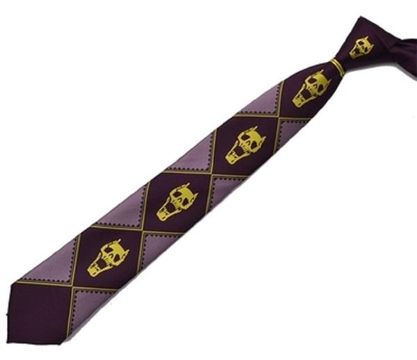 JoJo/'s Bizarre Adventure KILLER QUEEN Heavens Door Purple Tie Top Quality Cos