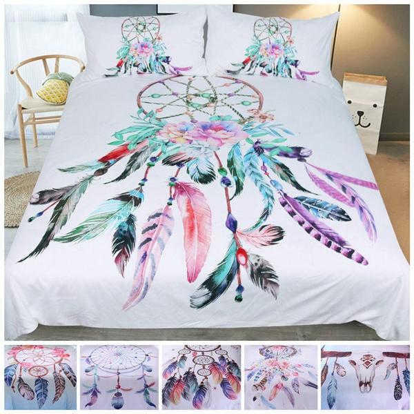 3d Beautiful Dream Catcher Quilt Cover Bedding Set Boho Duvet