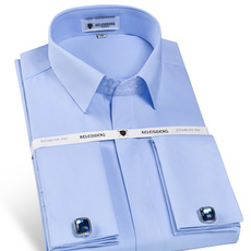 men shirt, slim, Dress Shirt, mens dress shirts with french cuffs