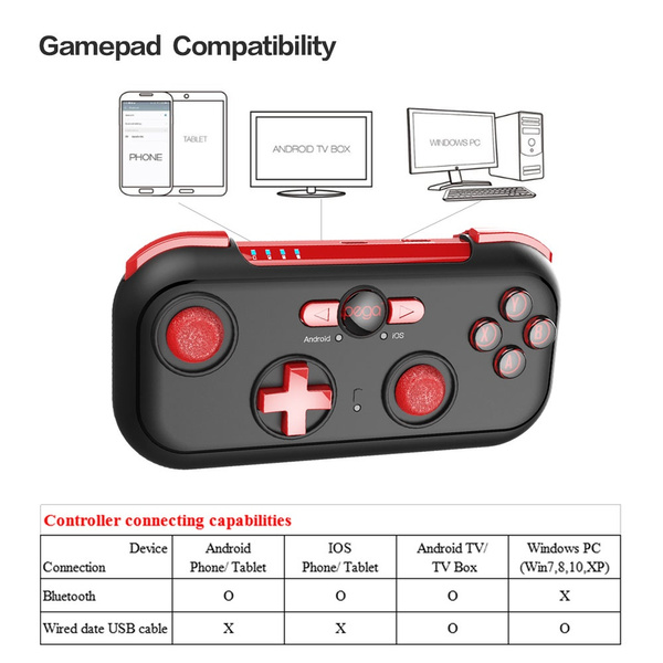 IPEGA PG-9085 PG 9085 Red Wizard Bluetooth Gamepad Wireless Game Controller  for Android/ iOS/ Nintendo/ Switch/Win Joystick Pad