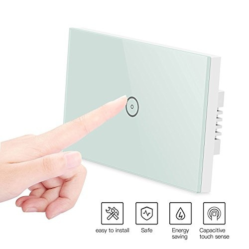 Smart Wifi Light Switches, Touch Wall Switch Panel, Replace 3 Switches in 1  Gang Wall Box, Combination Switch Works with Amazon Alexa, Smartphone App