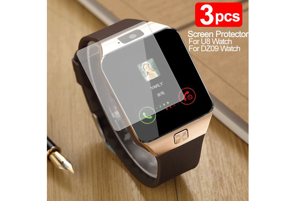 High Quality Ultra Thin U8 HD Clear LCD Screen Protector For U8 Bluetooth Smart Watch Guard Shield Protective Film Phone-SH (Color: Transparent)