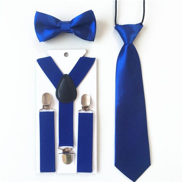 New Kid/'s Boy/'s girl/'s Vesuvio Napoli Suspenders Braces Bowtie clip on Aqua Blue