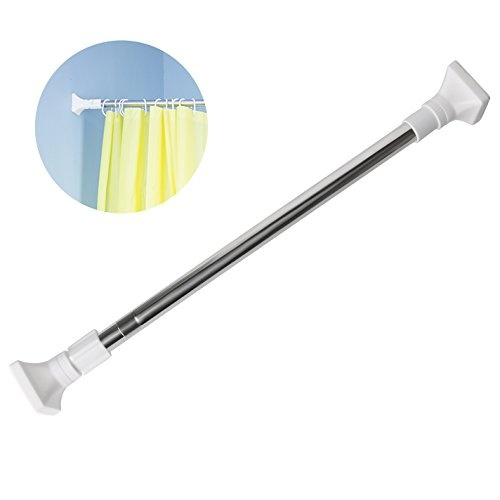Wish | Extendable Telescopic Tension Curtain Rod『48 27 Inch』, VDS Spring  Tension Rod Stainless Steel Seamless Adjustable Window Shower Rod Hanger  Closet ...