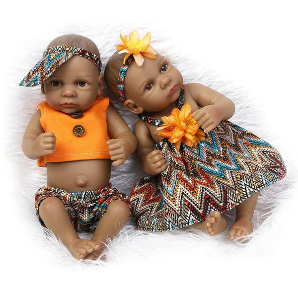 "10/"" Girl Doll Full Body Vinyl Silicone Lifelike Reborn Newborn Sleeping Baby"