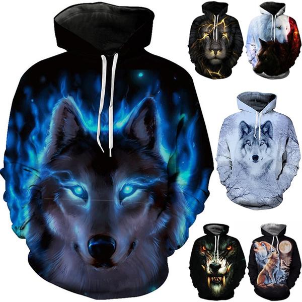 Couple Hoodies, 3D hoodies, Animal, mencasualhoodie