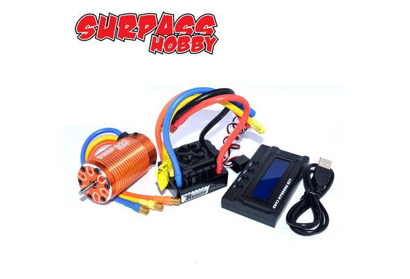 4076 2000KV Brushless Motor LED Programm Karte für 1//8 RC Auto 120A ESC