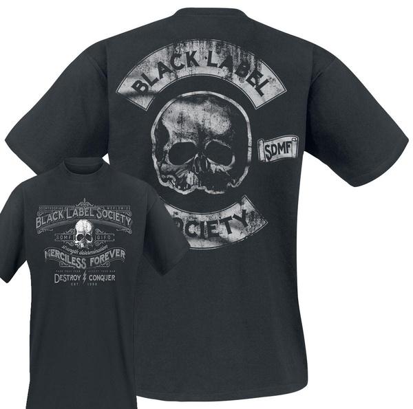Black Label Society Merciless Forever T-Shirt Noir