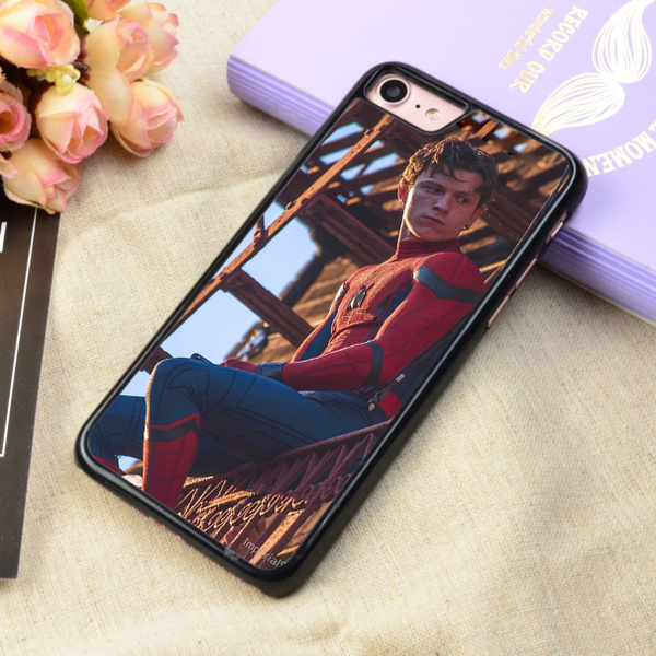 detailed look 26ec2 867a1 Tom Holland Spidey Art Protective Phone Case For iPhone 4 5 6 7 8 X and  Samsung Galaxy S4 S5 S6 S7 S8 Note 3 4 5 7 8 Plus