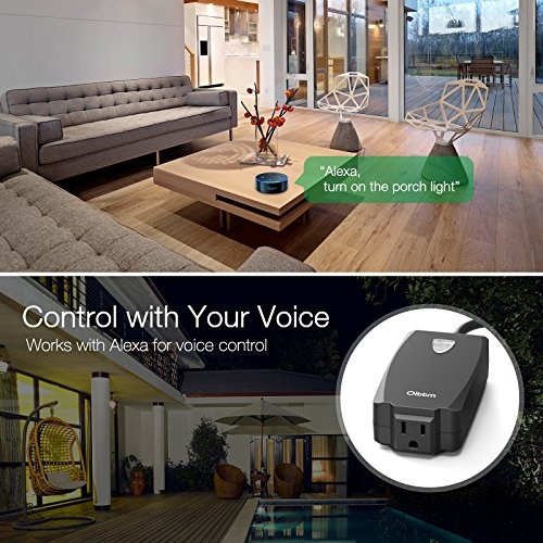Oittm Outdoor Wi-Fi Outlet, Smart Plug Socket w/ Energy Monitoring Wireless  Remote Control/Timer by Smart Phone, Works with Alexa, Google Home,
