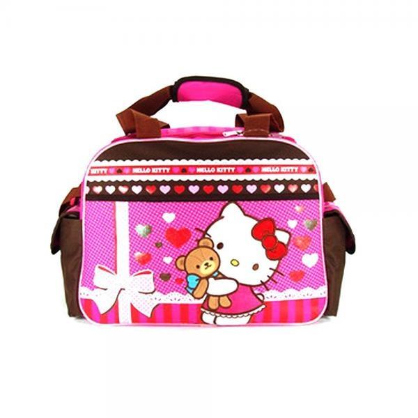 Wish   Pink and Brown Hello Kitty Teddy Bear Hug Duffle Bag - Hello Kitty  Travel Bag 4ba71e5ef1