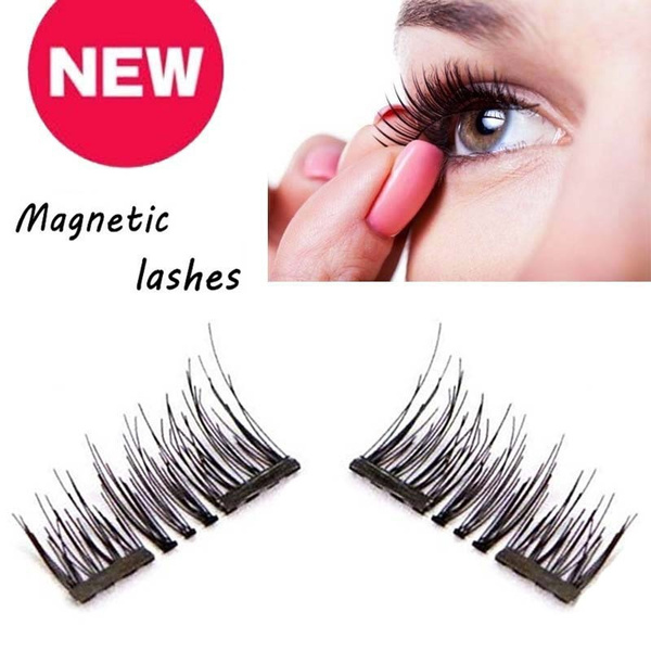 bf88342902c New Natural 3D Long Magnetic Eyelash EyeLashes Makeup Women's ...