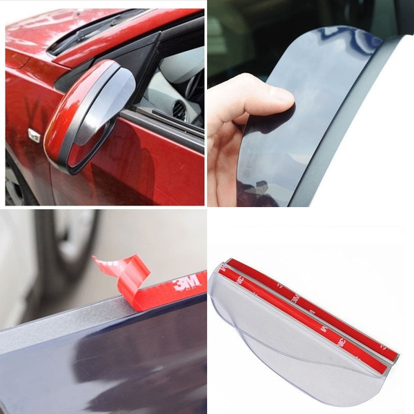 Universal Rear Mirror Rain Board Sun View Side  Visor Shade Shield For Car Truck