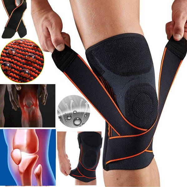 6ef2247942 3D Weaving Pressurization Knee Brace Basketball Tennis Hiking Cycling Knee  Support Professional Protective Sports Knee Pad   Wish