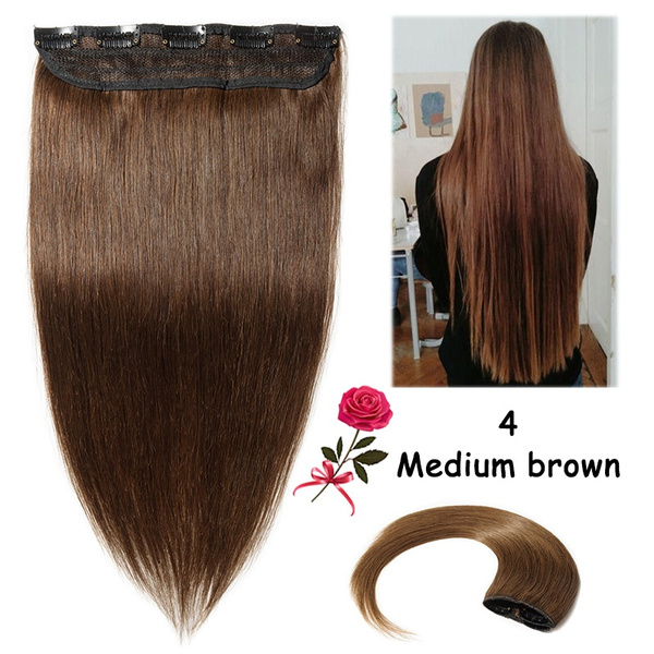 Wish One Piece Real Remy Hair Extension Silky Soft Women Clip In