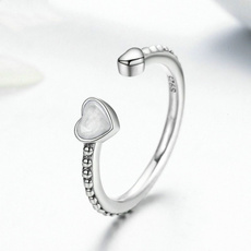 Sterling, Heart, Love, Women Ring