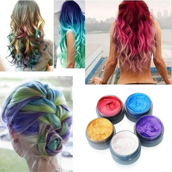 8 Colors 100ml Temporary Hair Dye Cream Hair Color Wax Mud Hair Fashion  Styling Hair Coloring Products