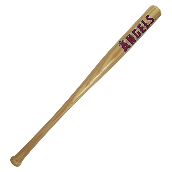 Los Angeles Angels Official MLB Natural Baseball Bat by Coopersburg Sports  190224