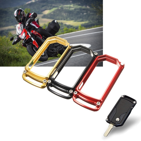 Black/Red/Gold CNC Key Cover Case For DUCATI DIAVEL MULTISTRADA 1200  2011-2016