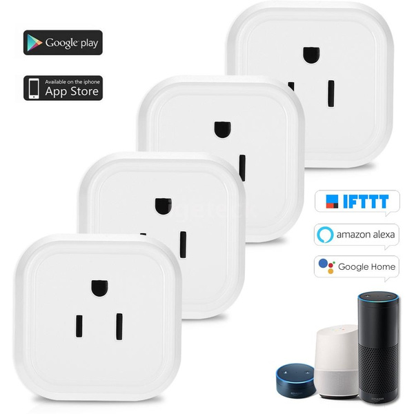 Mini Wifi Smart Plug with On/Off Switch Support Phone App Control Anywhere  And Anytime Timing Function, Voice Control for Amazon Alexa for Google