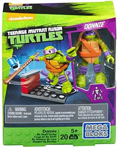 Mega Bloks Teenage Mutant Ninja Turtles Donnie Bo Staff Strike Building Playset