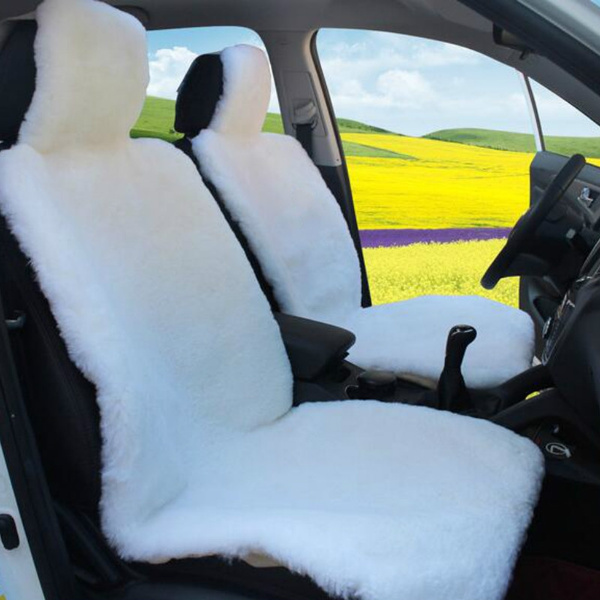Excellent 1Pcs Universal Wool Car Seat Covers Winter Faux Fur Sheepskin Seat Cushion Pabps2019 Chair Design Images Pabps2019Com