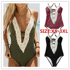 Deep V-Neck, bathing suit, seabbot, Lace