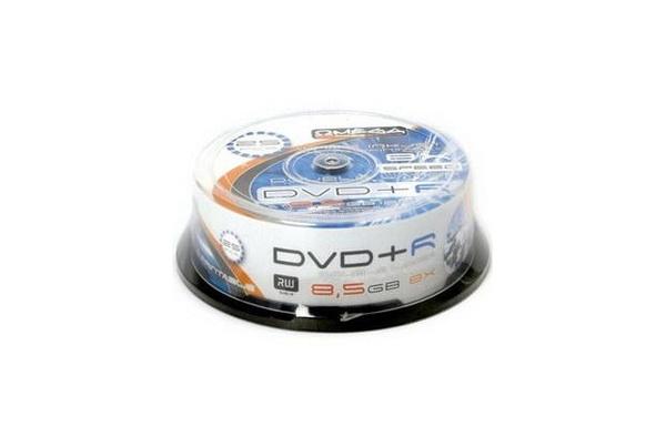 photo regarding Printable Dvd Rohlinge titled 25 Omega Double Layer 8x Rohlinge DVD+R 8,5GB printable Spindelware
