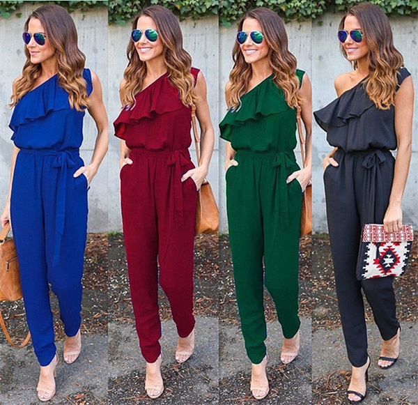 Women Ladies Sleeveless Clubwear Playsuit Bodycon Party Jumpsuit/&Romper Trousers