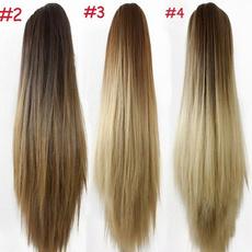ponytailextension, syntheticstraightponytail, hairstyle, Fashion