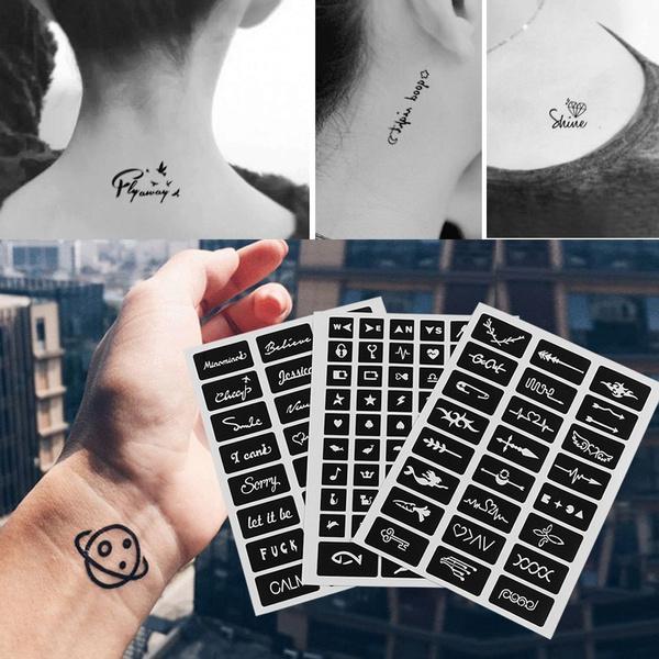 Wish 105pcs Diy Drawing India Henna Kit Glitter Tattoo Stencils