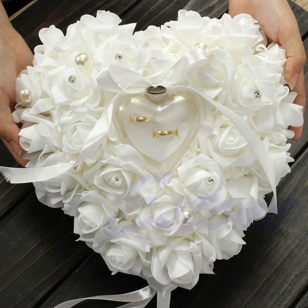 Box, Heart, wedding ring, Gifts