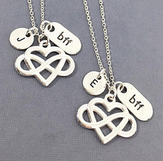 Heart, Fashion, bff, heart necklace