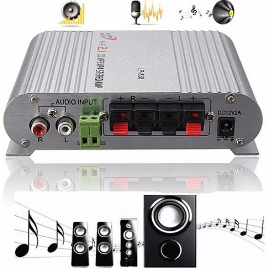 Cheap HiFi CD MP3 Radio Car Home Audio Stereo Bass Speaker Booster Amplifier