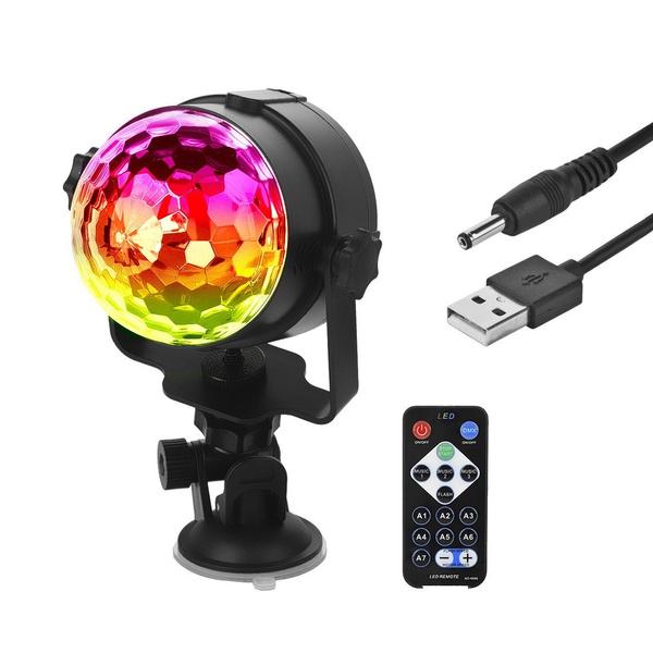 Usb Car Disco Ball Strobe Party Lights