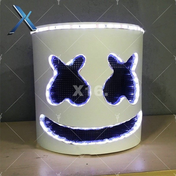 Wish Fashion Dj Marshmello Mask Cosplay Costume Accessory Helmet