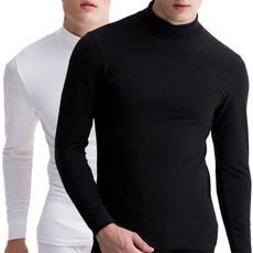 9e4012daf Men Turtleneck Thermal Cotton Turtle Polo Neck Skivvy Sweater Shirts ...