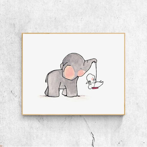 Elephant Boy Nursery Prints