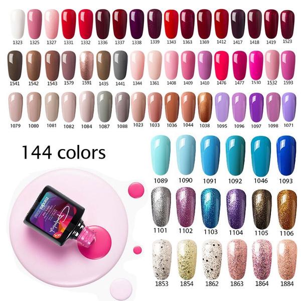Modelones Beauty Pure Colors Nail Gel Polish 10ml Uv Led Gel Soak Off Vernis Semi Permanent 144 Colors