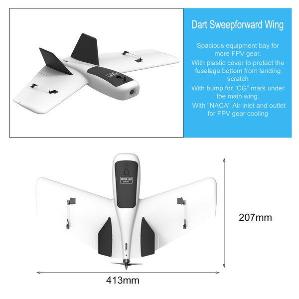 Dart Sweepforward Wing FPV Drone with Gyro EPP Delta Wing Airplane PNP  Model PEO0