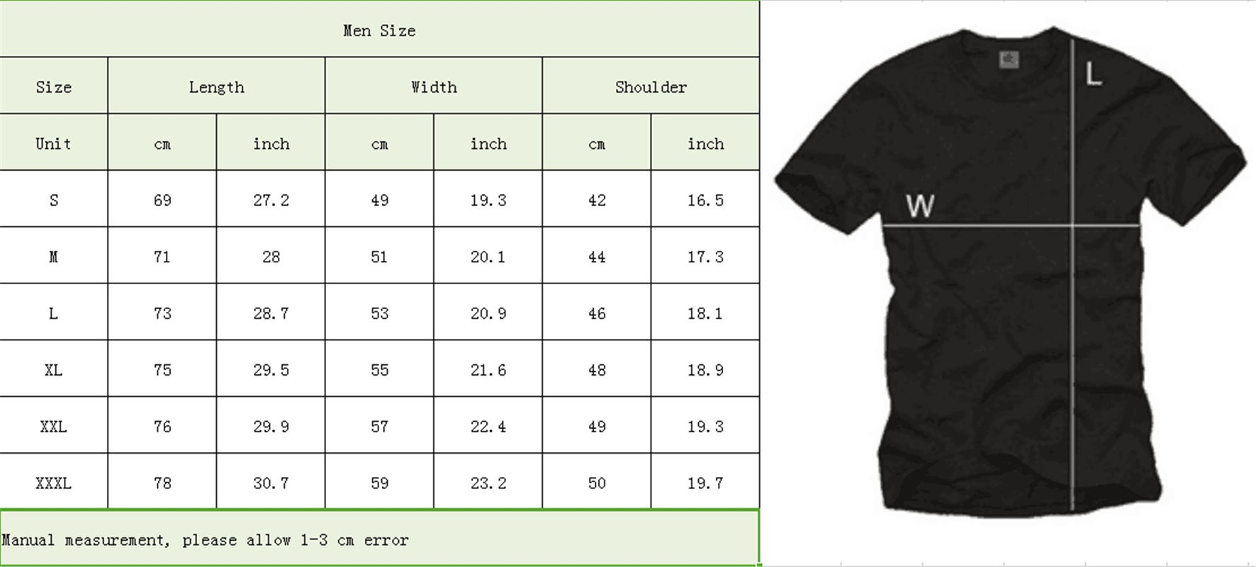 a43f19a8970 ... each T-shirt design. 100% satisfaction guarantee! Please check the Size  Chart photograph carefully and see the detail measurements for an accurate  fit.