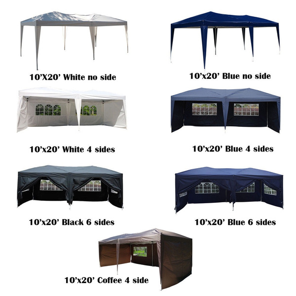be60000655 10x20 EZ Pop UP Wedding Party Tent Folding Gazebo Canopy Heavy Duty/ Carry  Case (We don't ship to AK/HI/PR/APO/FPO/PO BOX) | Wish