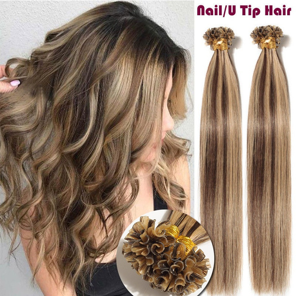Wish Silky Straight 50g Brazilian Hair Extensions Pre Bonded Nail